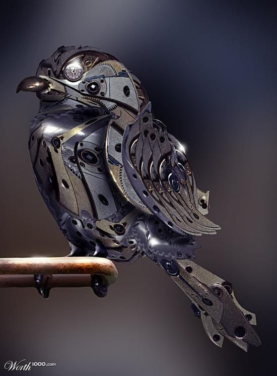 beautymothernature: Beautiful steam punk birdy...