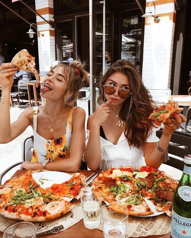 Besties & Pizza 🍕 Tag your BFF 👯‍♀️ by milenalesecret via @stylefriq… – Willie