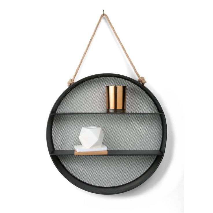 round Metal Wall Shelf homemaker