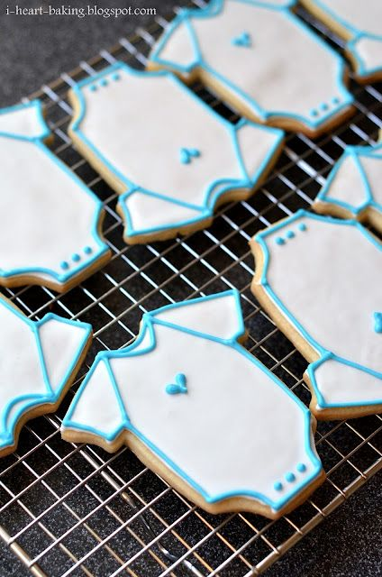 Onesie Cookies are a Baby Shower Sweet - foodista.com