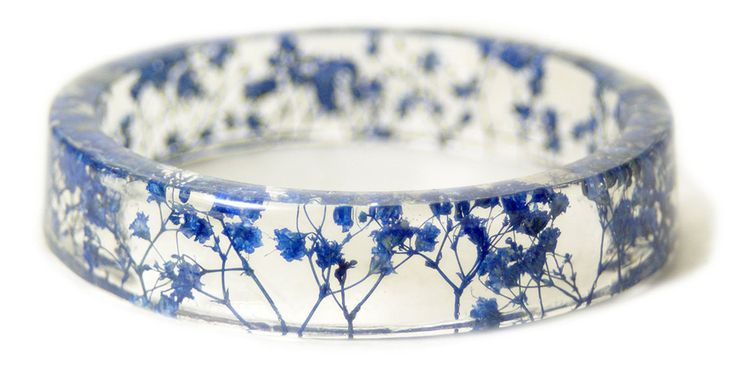Handmade Resin Bangles Embedded with Flowers and Bark.  These are so fresh and lovely