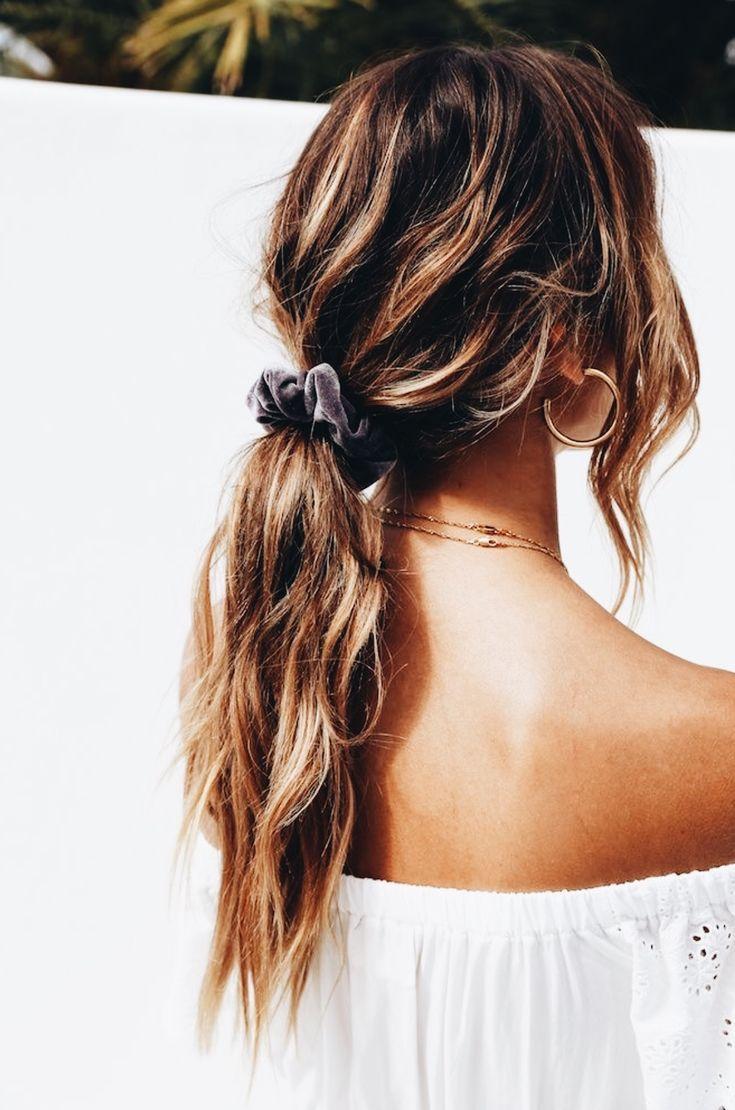 P I N T E R E S T: Maggie12  Scrunchie hairstyles, Boring hair