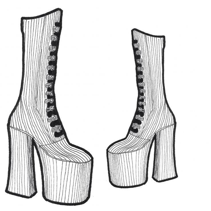 New Fashion Sketch Marc Jacobs Shoes Fall/Winter 2016
