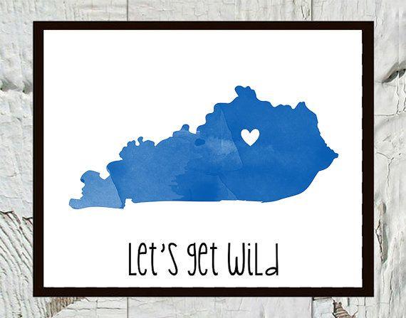 University of Kentucky Wildcats Print Let's Get Wild by CraftandCandor, $12.00