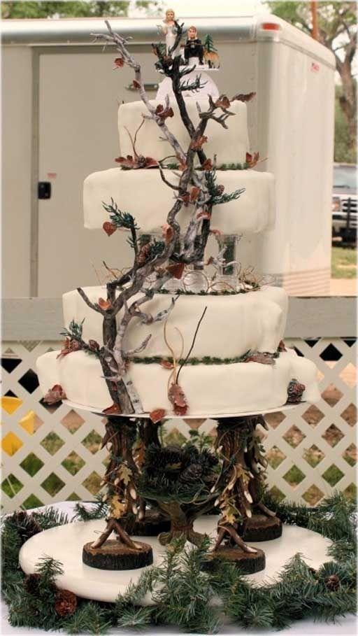 white camo wedding cakes - Google Search