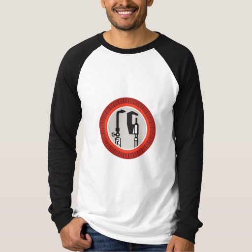 Welding Torch Caliper Isolated Retro Shirt. Illustration of a welding torch and caliper tools set inside circle with notches done in retro style. #Illustration #WeldingTorchCaliper