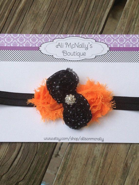 Halloween shabby chic headband by allisonmcnally on Etsy, $6.95