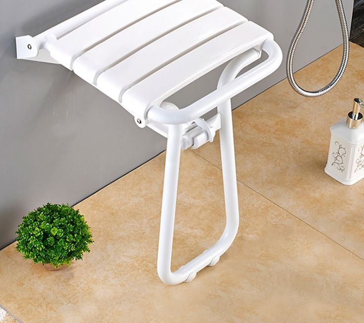 Wall Mounted Foldable Shower Stool Bathroom Chair Folding