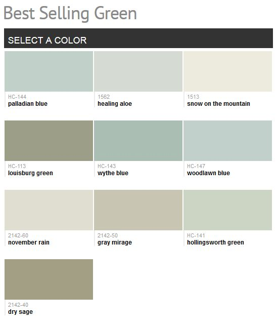 Benjamin Moore Best Selling Green Paint Dressing The