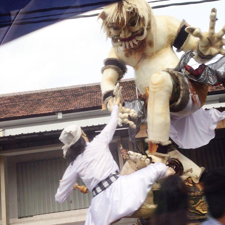 Ogoh-Ogoh Parade before Silent Day #ogohogohparade #2015silentdayinbali #nyepiday2015inbali