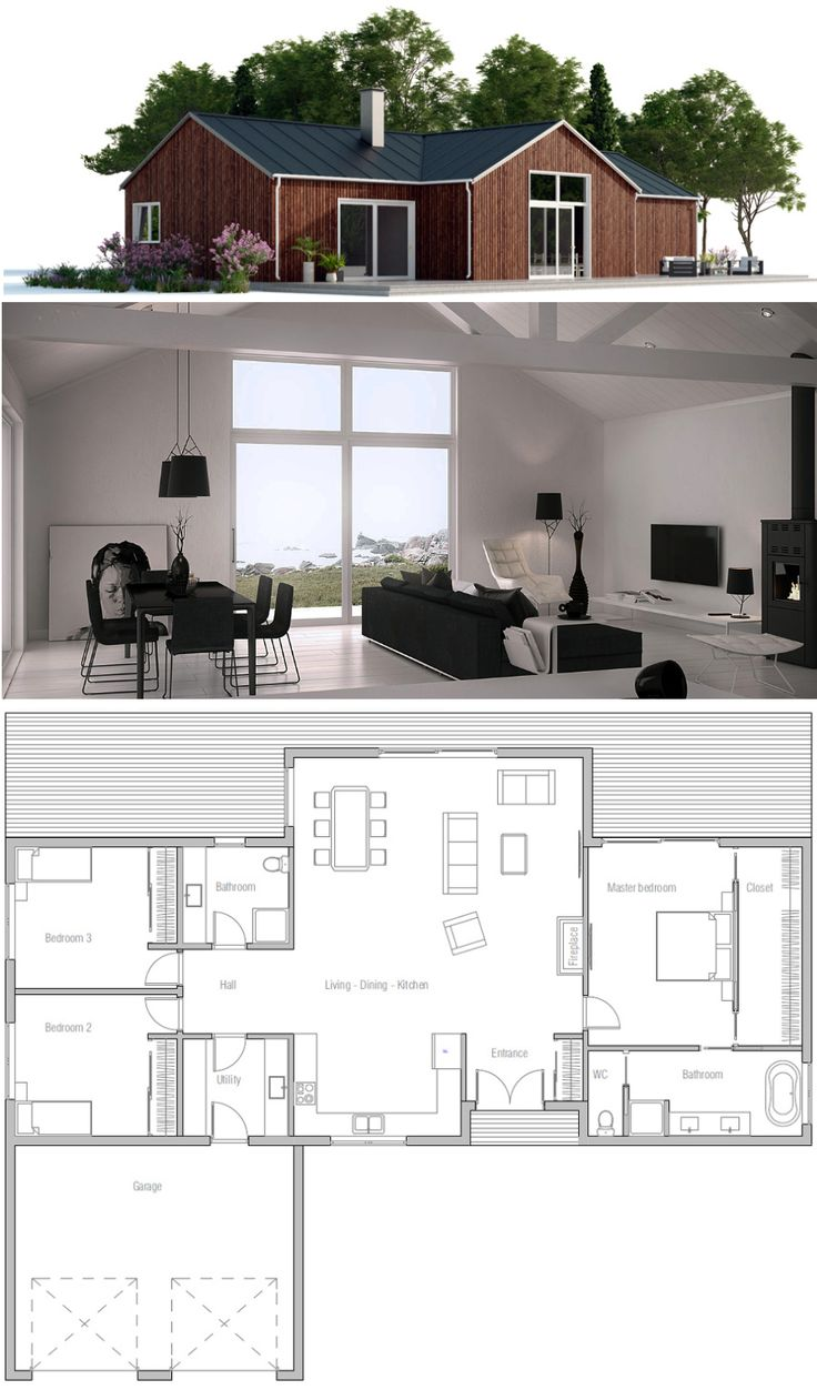 383 best Small House Plans images on Pinterest | Architecture ...
