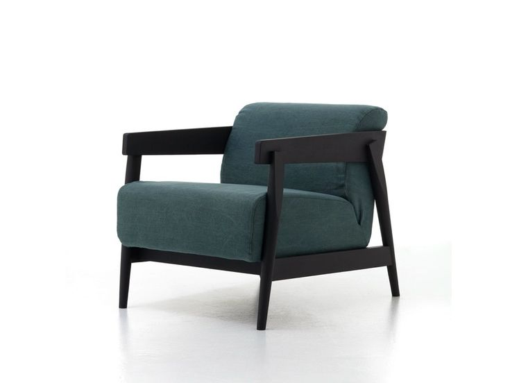 Upholstered fabric armchair with armrests BRICK 305 by Gervasoni design Paola Navone