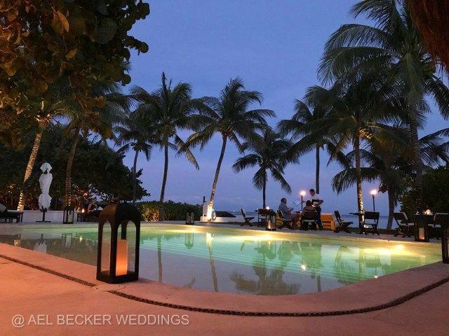 Romantic dinners for two at Hotel Esencia, Xpuha Beach, Mexico. Ael Becker Weddings