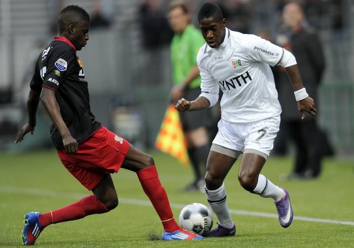 NEC blijft nog altijd in de race voor het behalen van een plek voor de play-offs voor Europees voetbal. Op Woudestein werd met 0-2 gewonnen dankzij doelpunten van Schöne en Vadocz. 10-04-2012