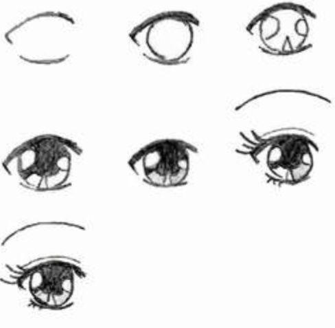 Zo kan je stap voor stap manga ogen maken