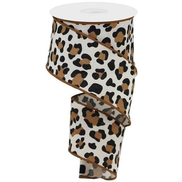 White /& Black 10 Yards 2.5 Animal Leopard Spot Ribbon