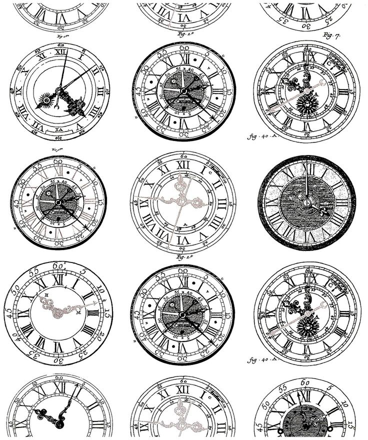 Galerie de coloriages gratuits coloriage-difficile-anciennes-montres. Gravure de Montres anciennes, très diversifiées dans leurs styles. A imprimer et colorier