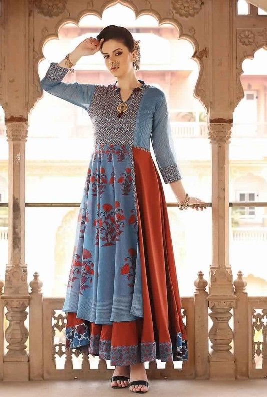 42e59009f5a Muslin Beautiful kurti with superb colors and detailing.