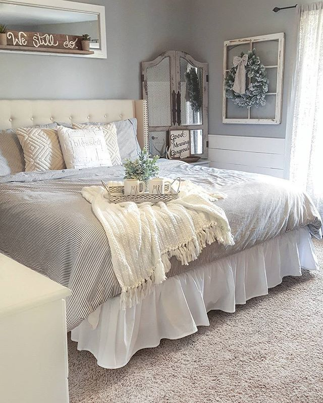 This bed right here may keep me from waking up in the morningBest 25  Farmhouse bedroom decor ideas on Pinterest   Farmhouse  . Farmhouse Bedroom. Home Design Ideas