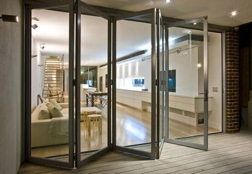 Aluminum Bi-folding Doors Picture