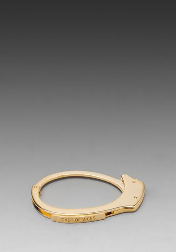 Cast of Vices Handcuff 14K Gold Plated Bracelet in Gold    I need this!