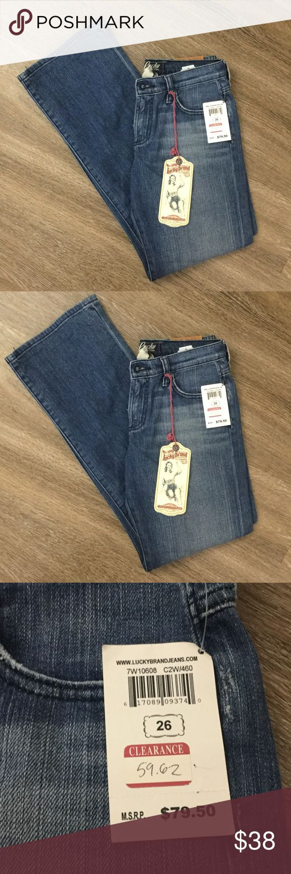 New size 26 Lucky Brand mid rise bootleg Jean Brand new Lucky Brand Jeans Boot Cut