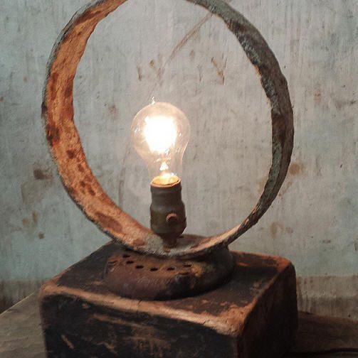 I love the old rusty band and the wood foundry pattern I used on this one.