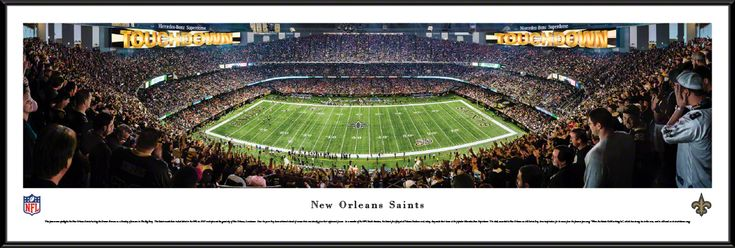 New Orleans Saints Panoramic Picture - Mercedes-Benz Superdome - Standard Frame $99.95