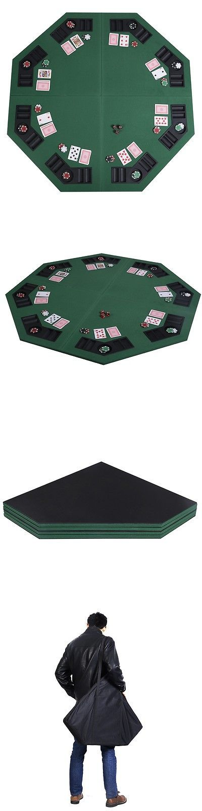 Card Tables and Tabletops 166572: 48 Green Octagon 8 Player Four Fold Folding Poker Table Top And Carrying Case -> BUY IT NOW ONLY: $58.99 on eBay!