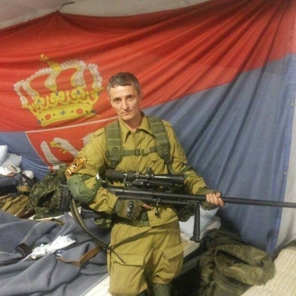 ASVK rifle used by Serbian volunteers in Donbass