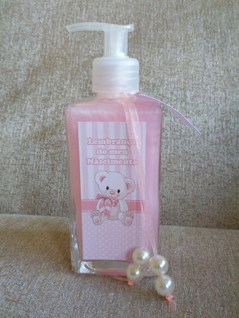 lembrancinha maternidade sabonete liquido - Pesquisa Google