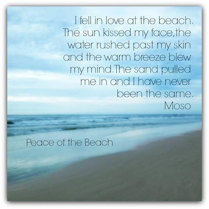 Life Quotes & Inspiration : I fell in love at the beach. The sun kissed my face the water rushed past my s