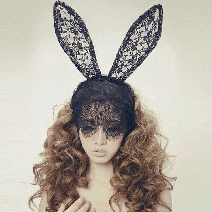 yeni moda saç bantları kesme maskesi dantel örtü seksi balo parti Halloween…