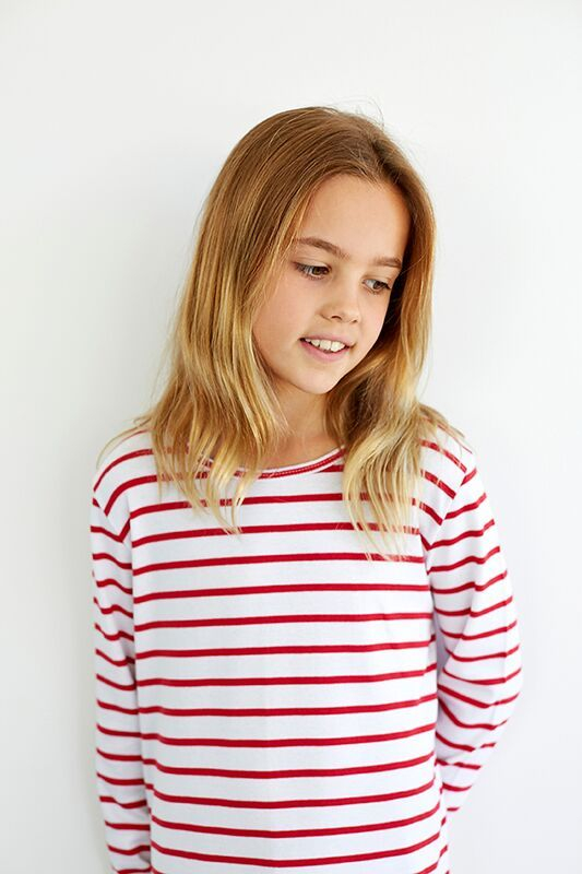 Teen Girl Red Stripe Nightie
