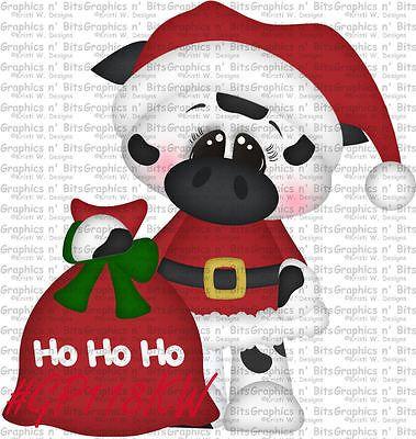 SL- CHRISTMAS ~ COW MOO ~ Scrapbook Embellishment GNB1533