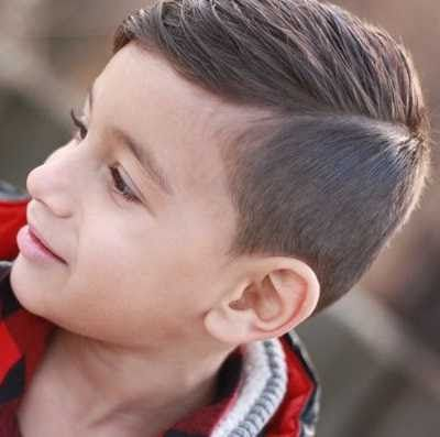 potongan rambut fade with slick untuk anak laki