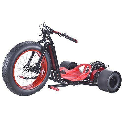 9 best electric bykes images on pinterest electric bicycle scooterx drift master 25hp 49cc drift trike drifting big wheel go kart 30mph red fandeluxe Images