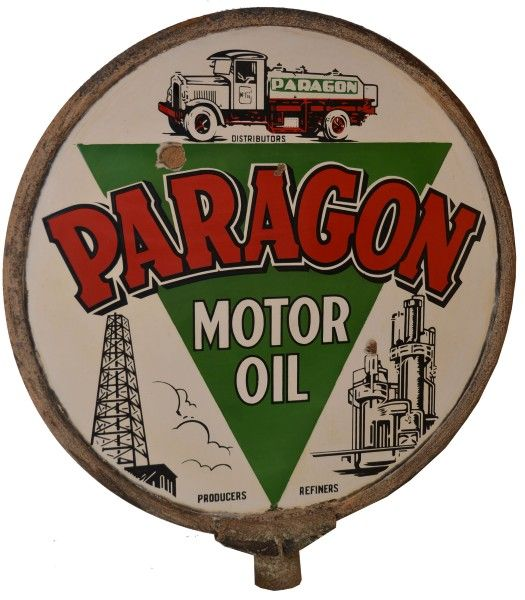 Paragon Motor OIl DSP sign, valued at $15,000 to $20,000