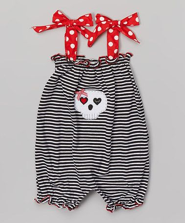 Another great find on #zulily! Black Stripe Bubble Romper - Infant & Toddler by Victoria Kids #zulilyfinds