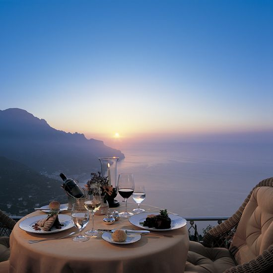 World's Best Restaurant Views: Hotel Caruso; Ravello, Italy