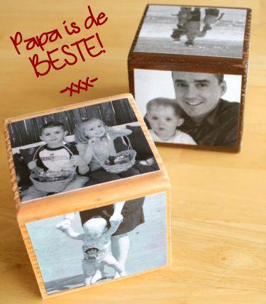 Vaderdag knutselen - Zelf een fotokubus maken als origineel cadeau voor Vaderdag