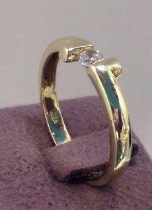 Anello Solitario In Oro 750/1000 18Kt Con Brillante | eBay