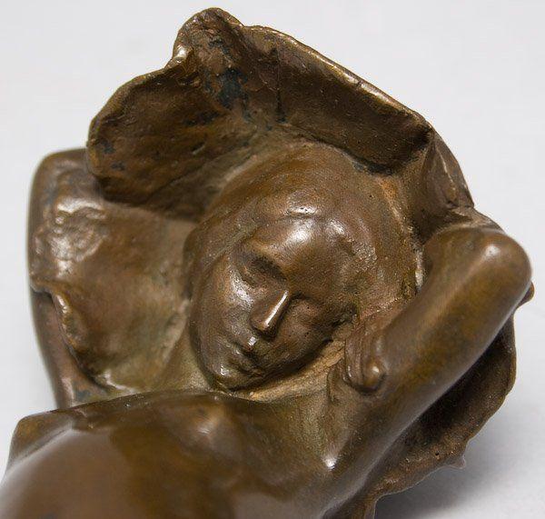 "Berge Edward Poppy | Edward Berge (American, 1876-1924). ""Poppy,"" bronze, brown patina ..."
