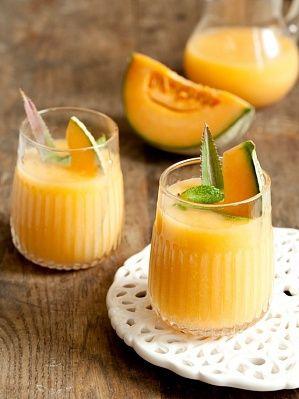 Смузи из дыни и ананаса - фото рецепт