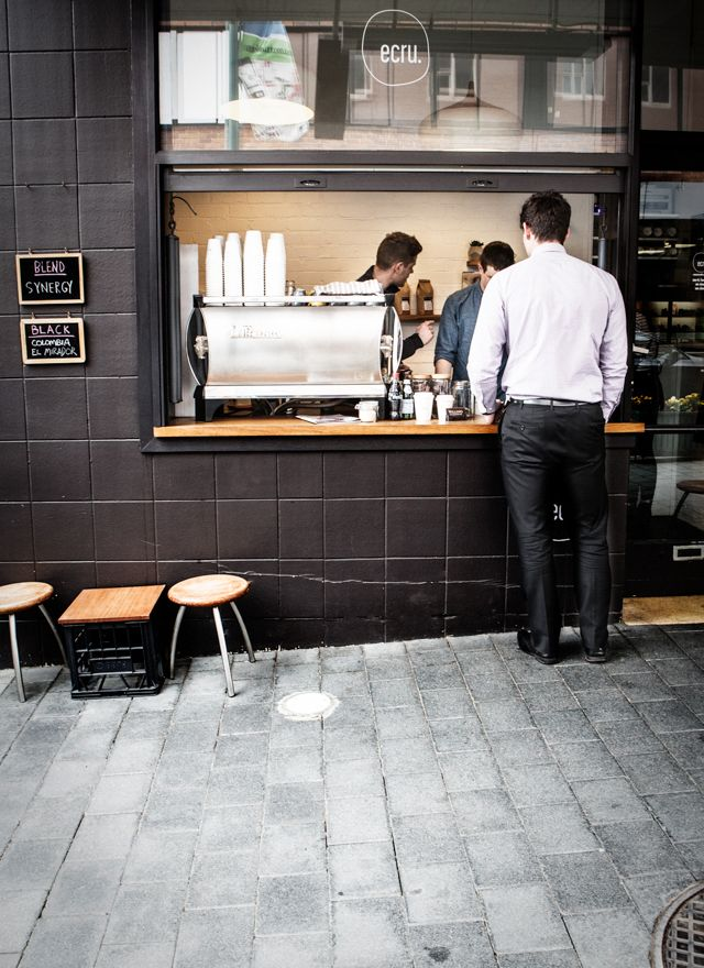 Ecru, 18 Criterion Street, Hobart :) A cute street side coffee spot.