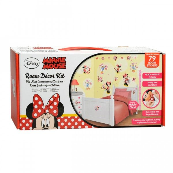 décoration Minnie Mouse  79 stickers muraux avec Minnie, Daisy, etc