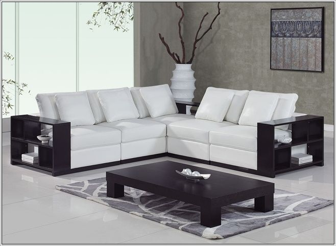the sectional by global furniture is a modern white leather match sectional sofa with cherry wooden this leather sectional offers a blend of