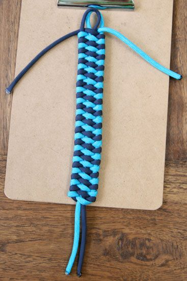 How To: Woven Cuff Bracelet This would be neat for friendship bracelets!