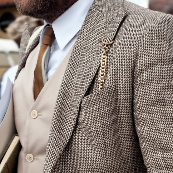 Pocket Watch Chain - Click image to find more Men's Fashion Pinterest pins