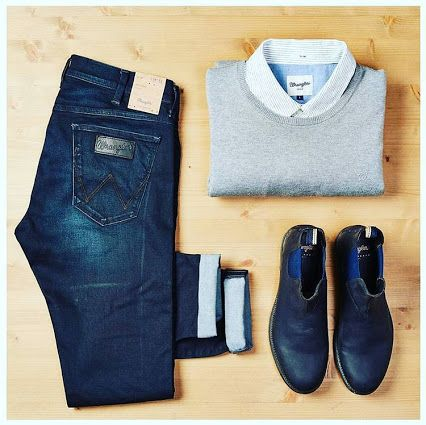 TGIF casual friday per l'ufficio: TAC!  #casual #friday #tgif #jeans #community #vertemate #outlet #prezzibassi #saldi #wrangler #totallook #cool #look #fashion #fashionaddicted #fashionlovers #denim #denimaddicted #denimlovers